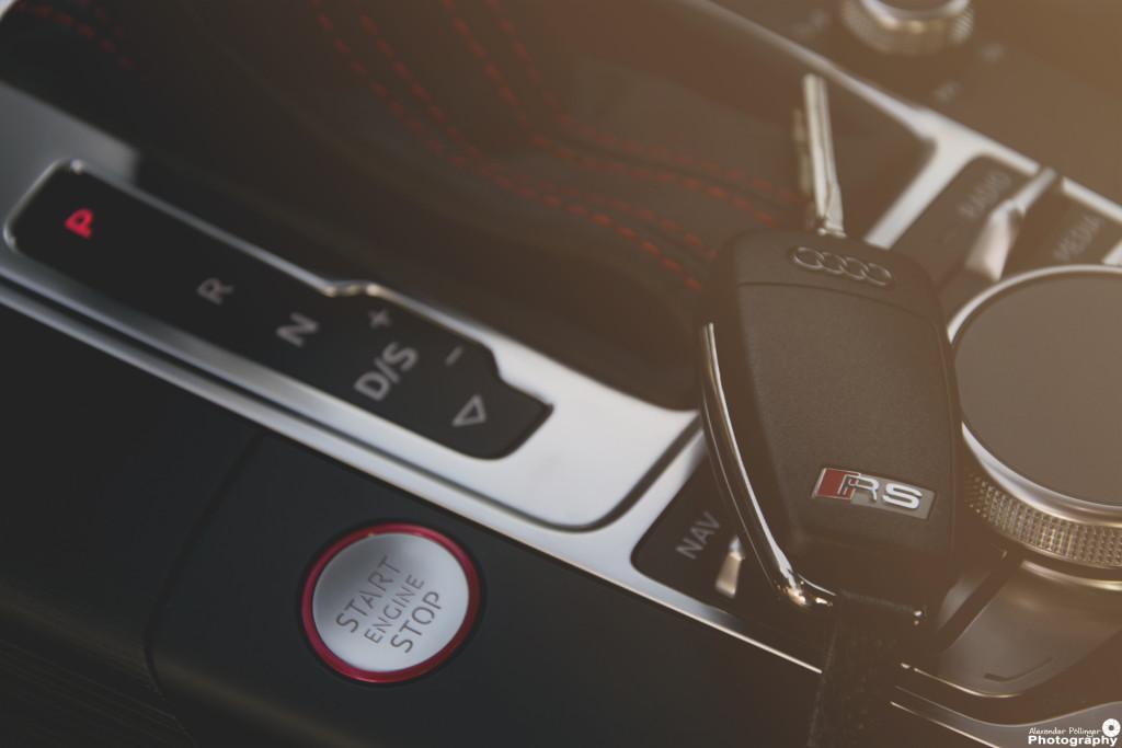 Audi RS3 Startknopf