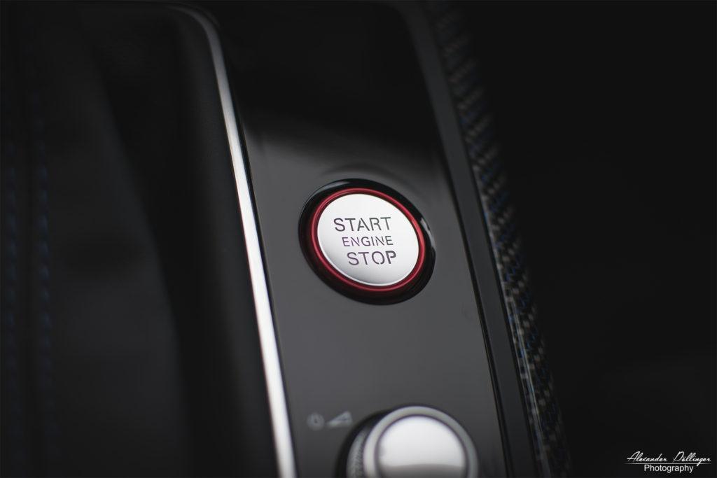 Audi RS7 Startknopf