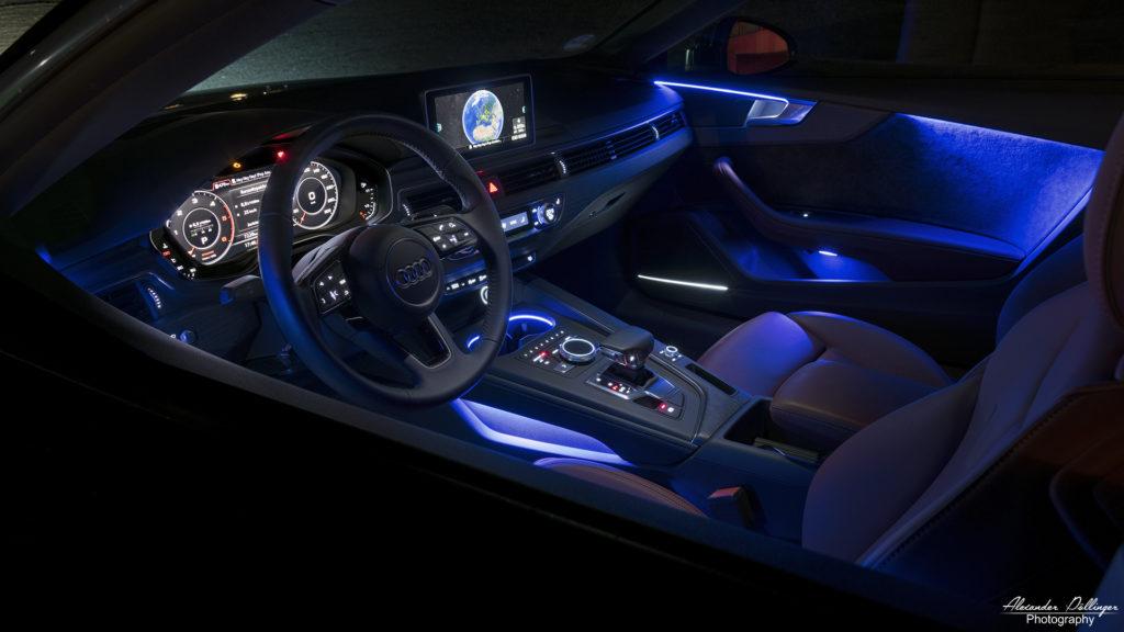Audi S5 Cockpit bei Nacht