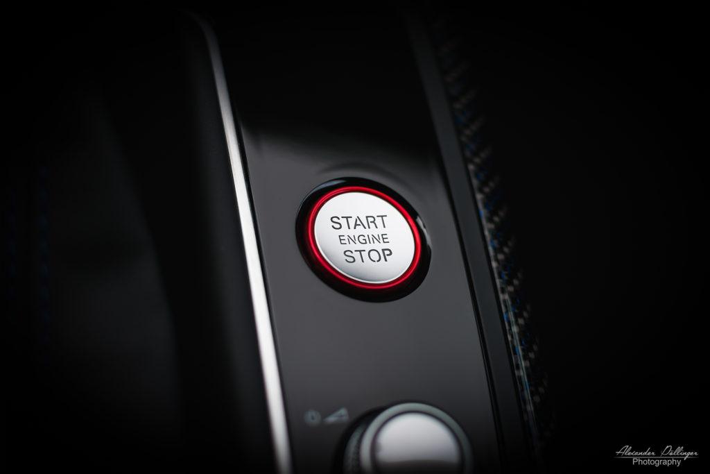 Audi RS7 Start Stop Knopf